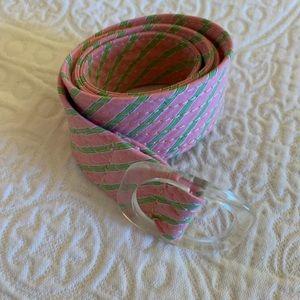Preppy pink and green adjustable belt.